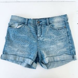 Anthropologie MidRise Embroidered Shorts Size 29